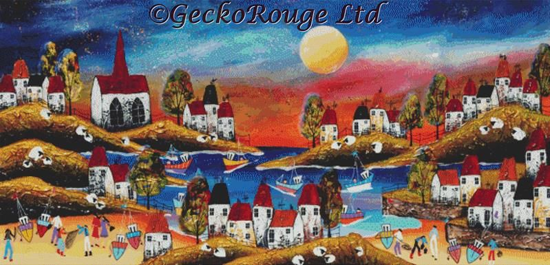 New Evening Harbour 1 by Rozanne Bell Cross Stitch Kit