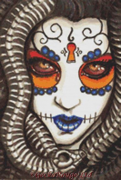 Nicole By Shayne Of The Dead Cross Stitch Kit
