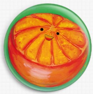 Orange By Megan Mars Licensed Art Needle Minder