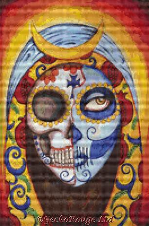 Our Lady Guadalupe By Shayne Of The Dead Cross Stitch Kit