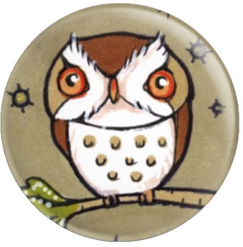 Owl Inchie 'Little Owl' By Anita Inverarity Licensed Art Needle Minder