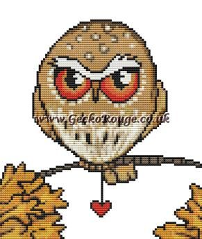 Owl Inchie 'Pygmy' By Anita Inverarity Cross Stitch Kit - Owl (AIPGYOI)