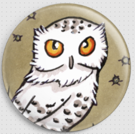 Owl Inchie 'Snowy' By Anita Inverarity Licensed Art Needle Minder (1)