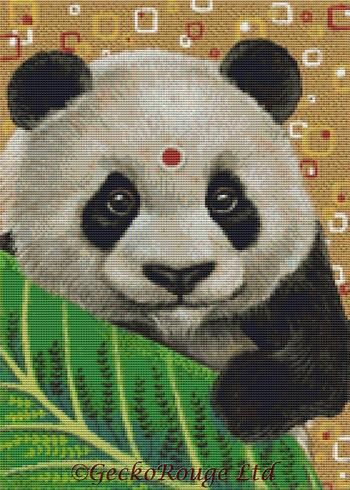 Panda By Tanya Bond Cross Stitch Kit