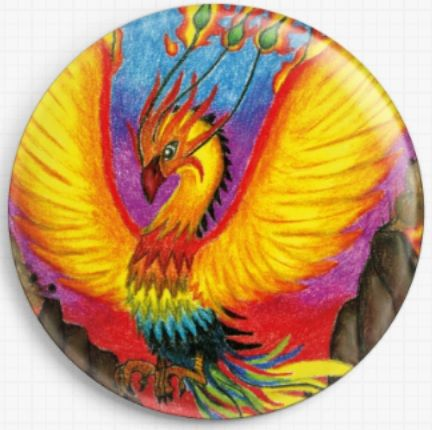 Phoenix By Angel Kitten Art Licensed Art Needle Minder