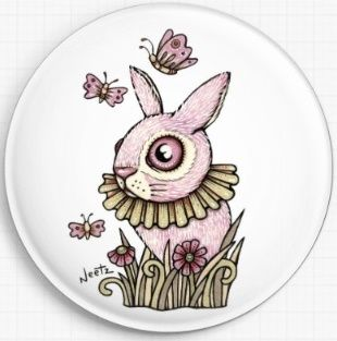 Pink Bunny By Anita Inverarity Licensed Art Needle Minder