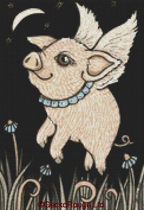 Pip By Anita Inverarity Cross Stitch Kit - Pig (AVIPIPG6)