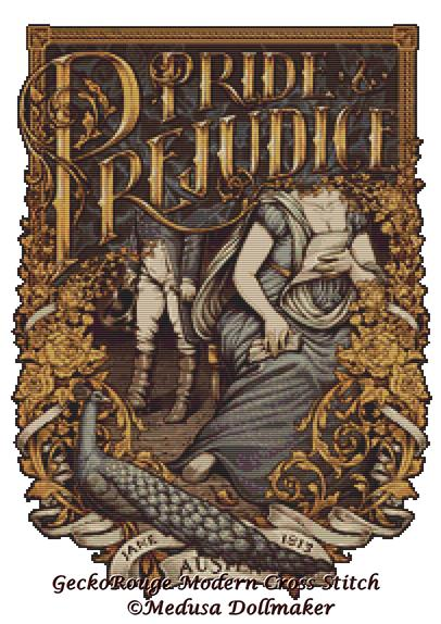 Pride and Prejudice (Small) By Medusa Dollmaker Cross Stitch Kit