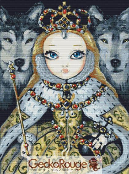 Queen Elizabeth Cross Stitch Kit By Simona Candini (SCQNLIZ)