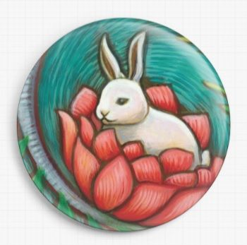 Rabbit By Eya Claire Floyd Licensed Art Needle Minder