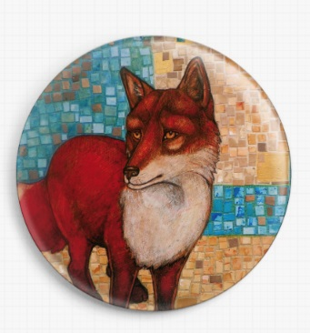 Red Fox By Lynnette Shelley Licensed Art Needle Minder