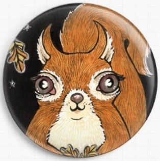 Sally Squirrel By Anita Inverarity Licensed Art Needle Minder