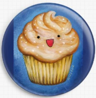 Salted Caramel Cupcake By Megan Mars Licensed Art Needle Minder