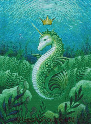 Seahorse By Eya Claire Floyd Cross Stitch Kit