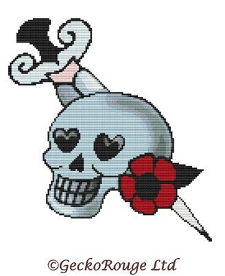 Skull By Fluff Cross Stitch Kit