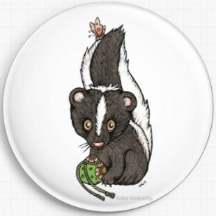 Skunk By Anita Inverarity Licensed Art Needle Minder