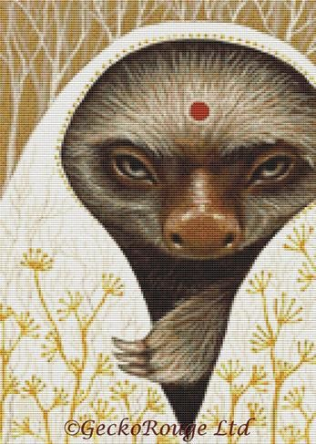 Sloth By Tanya Bond Cross Stitch Kit
