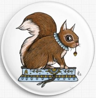 Squirrel By Anita Inverarity Licensed Art Needle Minder