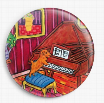 Terrier Playing Piano By Jay Schmetz Licensed Art Needle Minder (3)