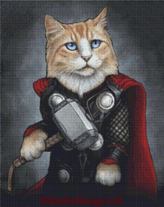 Thor By Jenny Parks Cross Stitch Kit