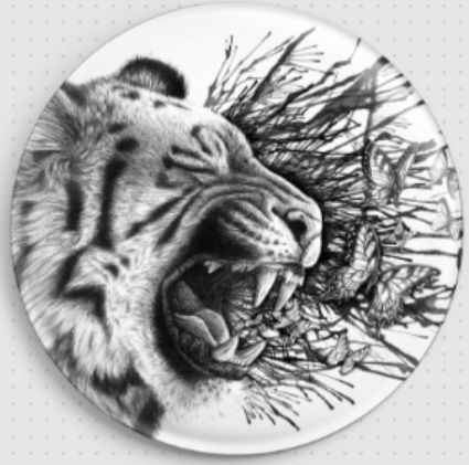 Tiger by Danielle Trudeau Needle Minder