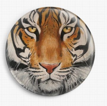 Tiger By Emily Luella Licensed Art Needle Minder