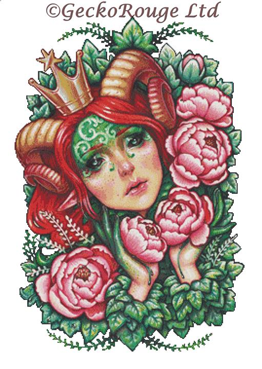 Titania Stigmata By Medusa Dollmaker Cross Stitch Kit (MDTISTIG)