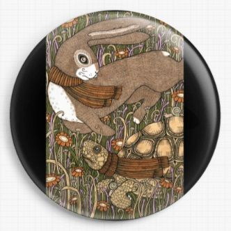 Tortoise and teh Hare By Anita Inverarity Licensed Art Needle Minde