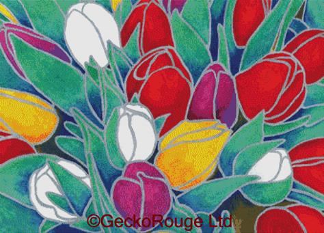 Tulips By Barbara Glatzeder Cross Stitch Kit