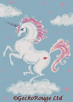 Unicorn By Fluff Cross Stitch Kit