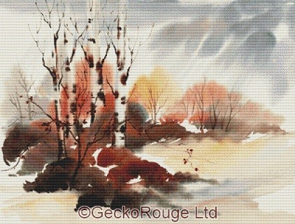 Winter Birches By Anne Muller Cross Stitch Kit